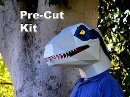 velociraptor costume dinosaur mask pre cut velociraptor mask kit build a raptor