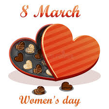chocolate for s day 8 march women s day greeting card celebration background with