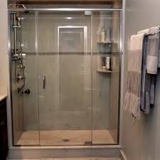 Sliding Shower Doors For Small Spaces Charming Neutral White And Grey Patterns Marble Shower For Wall