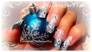 winter nail art for beginners snow and snowflake nails youtube