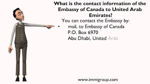 what is the contact information of the embassy of canada to united