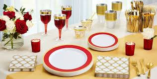 red tableware red party supplies party city