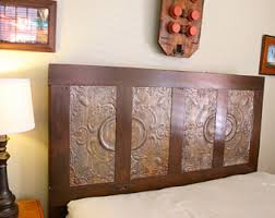 Headboard From Old Door by Antique King Sized Headboard Made From Old Door And Ceiling
