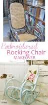 Nursery Chair And Ottoman Chairs Amusing Embroided White And Rustic Glider Chair And