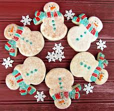 decorated christmas cookies snowman the bearfoot baker