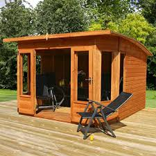 Garden Building Ideas 10 X 10 Contemporary Helios Wooden Garden Summerhouse Curved Roof