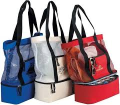 personalized tote bags bulk custom mesh tote w cooler personalized in bulk promotional