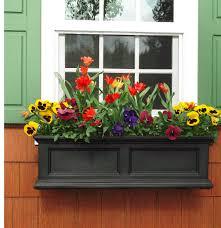 garden black resin hanging self watering window box planter flower