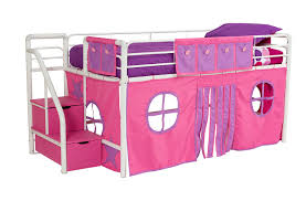 Curtains For Bunk Bed Amazon Com Dhp Curtain Set For Fantasy Loft Bed Pink Kitchen