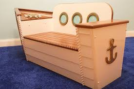 Wooden Toy Box Plans by Amazon Com Wooden Boat Toy Chest Toy Box For Storage Ship Bench