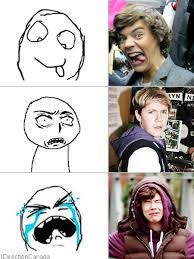 Tumblr Meme Faces - darcey one direction vs tumblr meme faces on we heart it