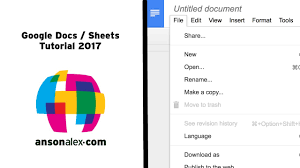 Google Spreadsheets Download Google Docs And Sheets Tutorial 2017 Youtube