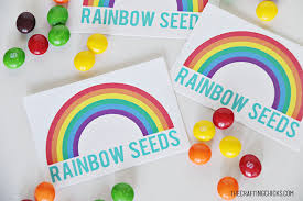 rainbow seeds free printable crafting