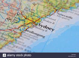 atlas map of australia atlas map showing australian city of sydney in new south wales