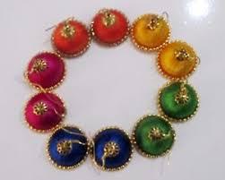 beautiful earrings new trendy ethnic silk thread jhumka beautiful earrings color can