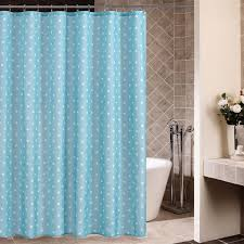 Aqua Blue Shower Curtains White Polka Dots Blue Shower Curtains For Bathrooms