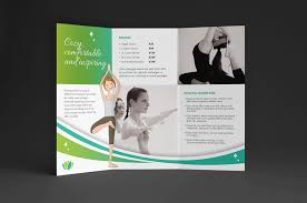 yoga studio trifold brochure template brandpacks