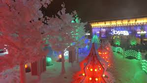 New Year Decoration Games by Moscow Russia January 14 2017 Christmas And New Year