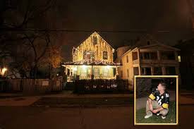 steelers fan gets to turn on lights at a story house