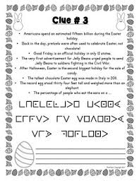 easter facts trivia escape room fun trivia facts holiday activity print go