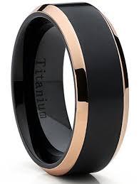beveled engagement ring tone black titanium ring wedding band engagement ring