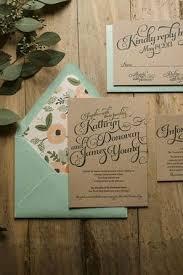 kraft paper wedding invitations stylish floral wedding invitations mywedding