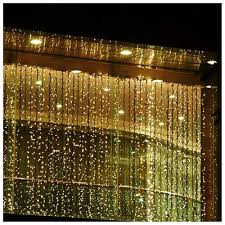 curtain led lights decorate the house with beautiful curtains