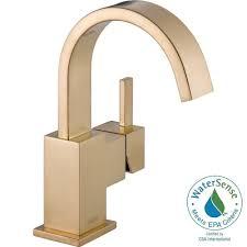 delta contemporary single handle bar faucet in champagne bronze