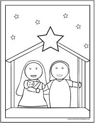 christmas coloring pages kids nativity scene