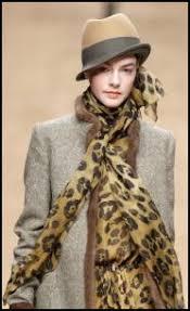 animal print accessory fashion for winter 2011 12