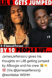 Lil B Memes - lil b gets jumped ig by 10 people but jamesjeffersonj gives his