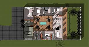 Inside Courtyard House Plans House Decorations