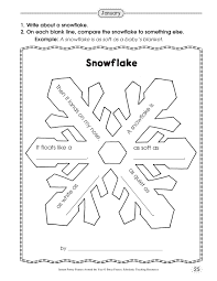 Snowflake Word Activity Worksheet Worksheets Activities And