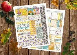 friday freebie u201charvest time u201d weekly sticker kit u2013 dixieseoul