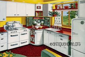 mixing corner 1950s kitchen design in red and yellow flickr