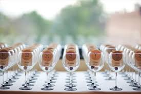 wine wedding favors chagne bottles delicious peachy wine themed wedding