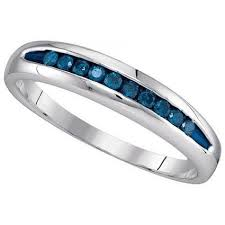blue diamond wedding rings mens diamond ring 0 25ct blue diamond mens wedding band 925