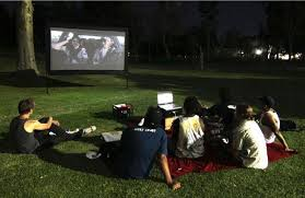 Things In A Backyard Everything You Need For A Backyard Movie Screening Party