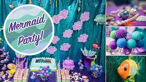 Mermaid Decorations For Party Mermaid Party Cricut Centerpiece Balsacircle Com Youtube