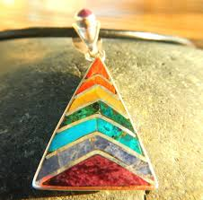 peruvian jewelry silver chakra colors triangle rainbow discovered