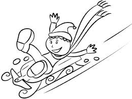 coloring pages winter sledding winter coloring pages of
