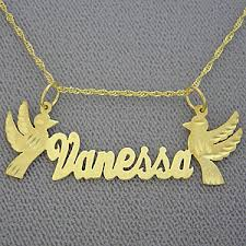 Personalized Gold Necklace Name Name Necklace Vanessa Personalized Gold Jewelry