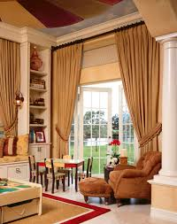 home accessories hanging curtains and fireplace surround ideas in