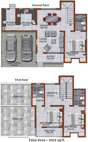 2021 sq ft 3 bhk floor plan image promag realtors meadows