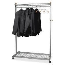 alba pmlux6 2 shelf mobile chrome coat rack 36 x hanger 72
