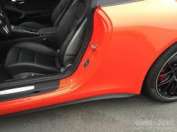 porsche matte red foliering auto ident