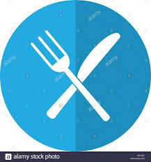 Kitchen Forks And Knives Utensils Kitchen Fork And Knife Shadow Stock Vector Art