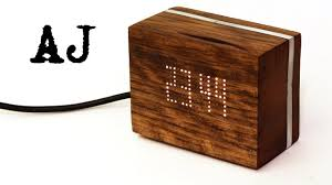 making a wooden digital clock youtube