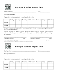 simple employee schedule template 7 free word pdf documents
