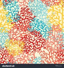 colorful sea corals vector seamless pattern stock vector 613723202